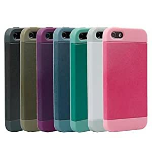 SUMCOM Solid Color Double Soft Back Case for iPhone 5/5S (Assorted Colors) , Pink