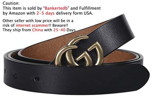 G-Style-Gold-Buckle-Womens-Slim-Belt-25cm-Belt-Width