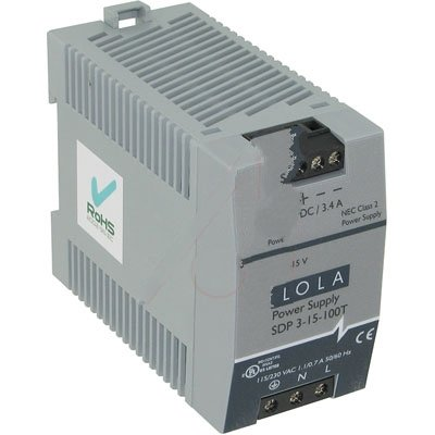 SOLA-HD SDP3-15-100T, Power Supply; AC-DC; 13.5V@3.4A; 85-264V In; Enclosed; DIN Rail Mount; SDP Series
