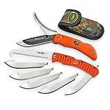 Outdoor Edge ROC-30 Razor-Pro Knife and Saw Combo - Blaze Orange with Mossy Oak Sheath