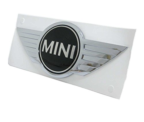 MINI Cooper REAR Wings Emblem Badge, factory recommended for Hardtop R56 (2007-2013) and Convertible R55 (2009-2015) Cooper and Cooper S models.