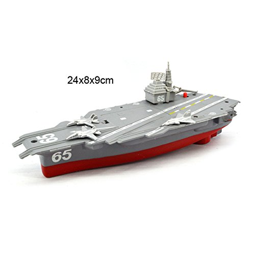 Amyove Boat Toy Battery Powered Aircraft Carrier Toys with Sound and Light Floating Electric Ship Toy Gift for Kids