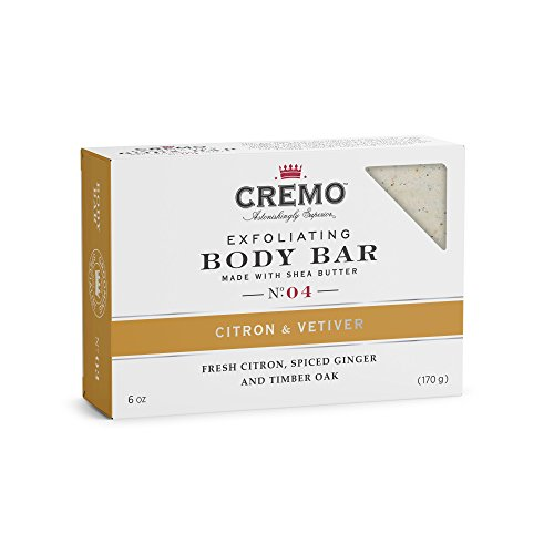 Cremo Exfoliating Body Bar With Shea Butter - Citron & Vetiver, 6 ounce