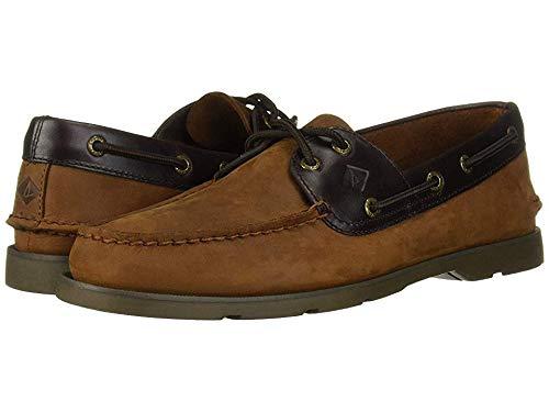 Sperry Men's Leeward Boat Shoe,Brown Buc/Brown,10 Medium US