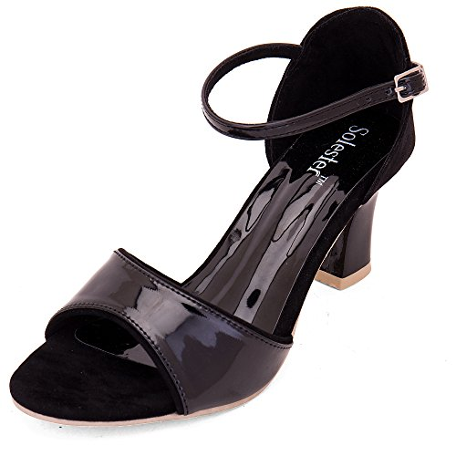 Solester Womens Black Stilettos 37 EU  4 UK