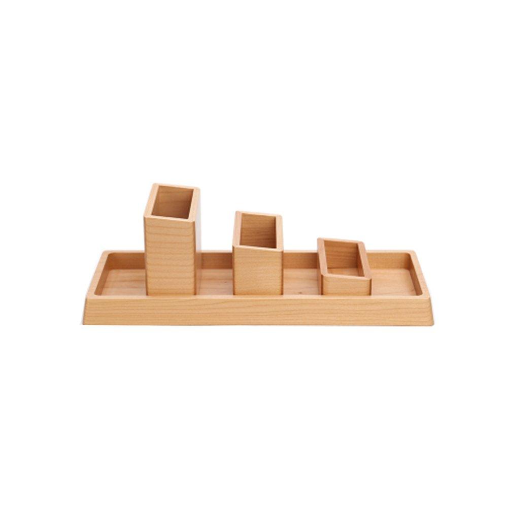 LIZHIQIANG Holz Kreative 4 Sätze Von Office-Desktop-Ornamente Multifunktionale Große Kapazität Stifthalter Desktop-Aufbewahrungsbox B07B6GHK4R      Kunde zuerst