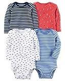 Carter's Baby Boys' Multi-pk Bodysuits 126g600, White, 12 Months