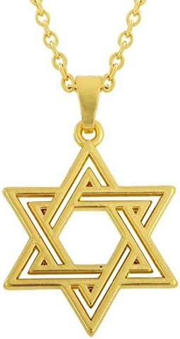 2LIVEfor ketting met hanger David ster hanger halsketting Judentum Davidstern Star of David ketting Hexagram joodse cultuur religie