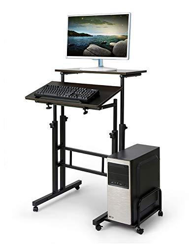 homelikesport Mesa de Ordenador Móvil Portátil de Mesa para Computadora PC Ordenador con Ruedas en Oficina con Bandeja de Teclado 60 * 54 * 70-115 CM