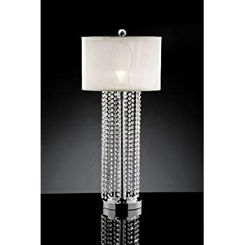 Delicate Rain Drop Crystal Table Lamp With Shade