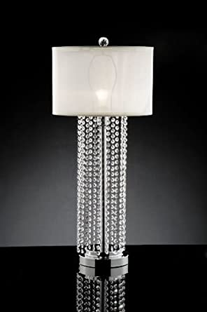 lamps pink in modern height inch shade p table crystal