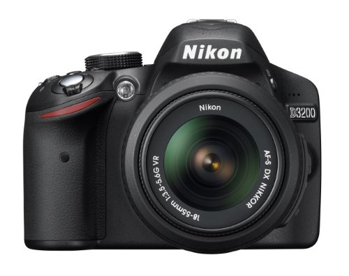 Nikon-Digital-Single-lens-Reflex-Camera-D3200-Kit-Lens-Af-s-Dx-Nikkor-18-55mm-F35-56g-Vr-Included-Black-D3200lkbk-International-Version-No-Warranty
