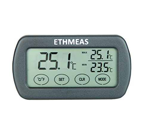 ETHMEAS Touchscreen Digital Indoor Thermometer with Temperature and Humidity Alarm Function