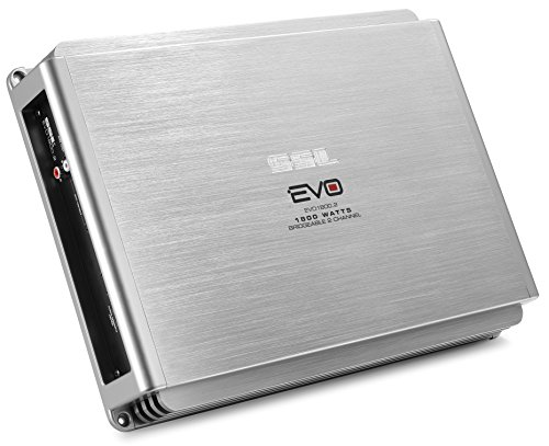 Sound Storm EVO1800.2 EVO 1800 Watt, 2 Channel, 2 to 8 Ohm Stable Class A/B, Full Range, Bridgeable, MOSFET Car Amplifier with Remote Subwoofer Control ()