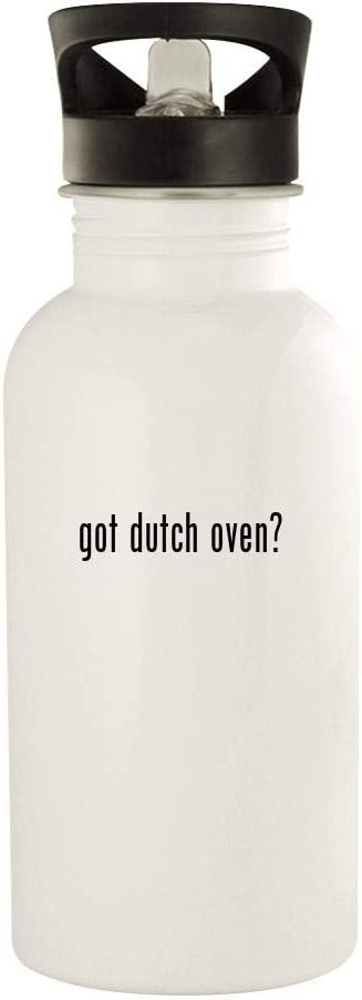 got dutch oven? - 20oz Stainless Steel Water Bottle, White