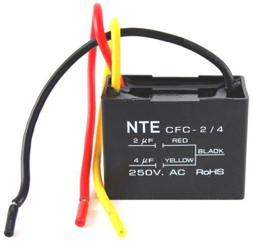 CAPACITOR CEILING FAN 3 MFD 125/250VAC 2 WIRE by NTE [並行輸入品] B018A1Q6HG