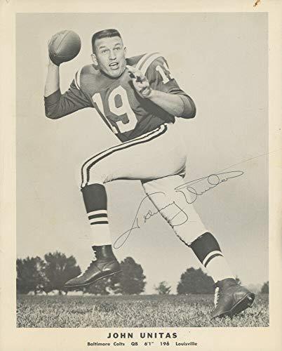 - Johnny Unitas Autographed Signed Autograph Baltimore Colts 8x10 Photo JSA Authentic Certificate 3 NFL Champion Qb