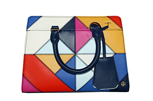 Stitch Satchel Burch Diamond Handbag Parker Tory Women's Leather Small pTHAPTqx