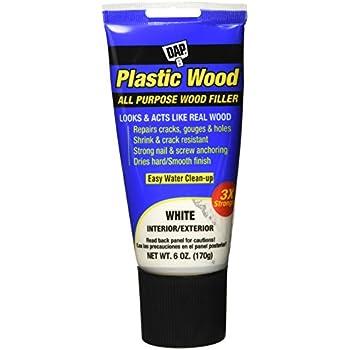 DAP 585 6oz White Plastic Wood Latex Plastic Wood