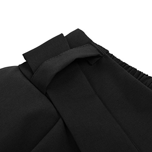 Pantalons Leggings Haute dcontracts Noir Femme Taille Taille Bandage GreatestPAK Sarouel Stripe lastique gEzwBB