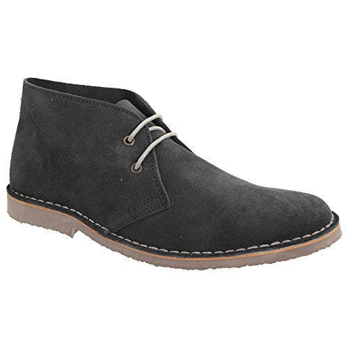 Roamer Herren Wildleder Wüsten Schuhe Jeans Blau