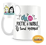 PeachyApricot Land Mermaid Galentine Friendship 11 Ounce Ceramic Mug