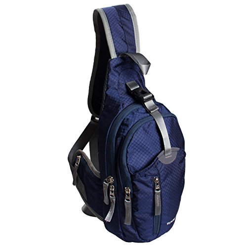 Sack Sling (WASING Military Sport Pack Shoulder Sling Backpack Men Women Chest Gym Bag,Rover Sling Pack Chest Pack WS-ChestPack-jewelryblue)