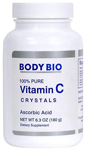 BodyBio - Vitamin C Crystals, Ascorbic Acid, 180g, 6.3oz