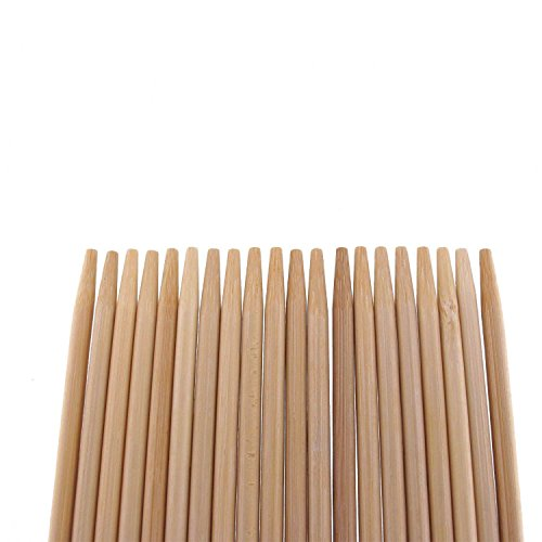 BambooMN Brand Premium 15″ Inch Extra Long 5mm Thick Bamboo Skewers – 300 pc Bag image