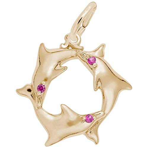 Rembrandt Charms Dolphins Charm, 10K Yellow Gold ()