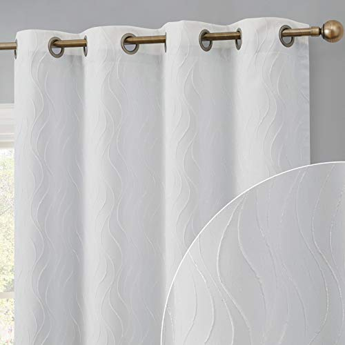 HLC.ME Camden 100% Complete Full Blackout Thermal Insulated Window Curtain Grommet Panel for Sliding Glass Patio Doors - Energy Efficient, Complete Darkness, Noise Reducing - (100