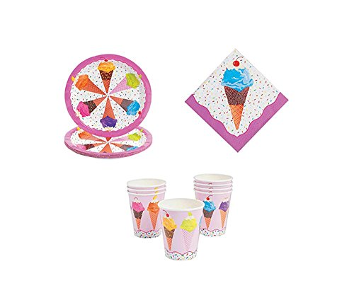 Ice Cream Party Kit - Birthday Party Supplies