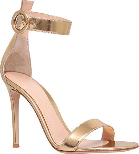 EDEFS - Zapatos con tacón Mujer ShinyGold