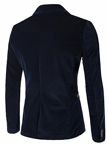blue Blazer Slim Mens Sleeve Navy Jacket today Fit Corduroy Long UK TFqTv7x