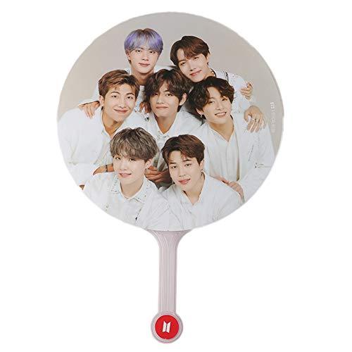 Youyouchard Kpop BTS Bangtan Boys BTS World Tour Speak Yourself The Final Hand Fan Portable Mini Hand Fan PVC Fan for BTS Army 1PCS(BTS)