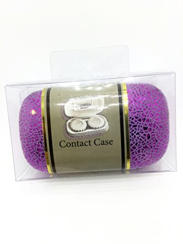 HARD SHELL CONTACT LENSE CASE, PURPLE (Case Hard Contact)