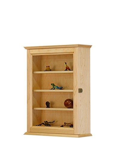 Figurine Display Wall Cabinet- Maple Hardwood *Made in the USA* -