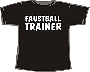 Faustball Trainer; T-Shirt schwarz, Gr. XL