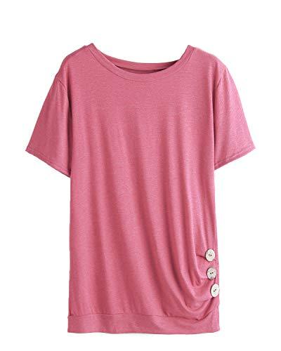 Longues Femme Manches 1 Pink Chemisier YOINS PTHwxx