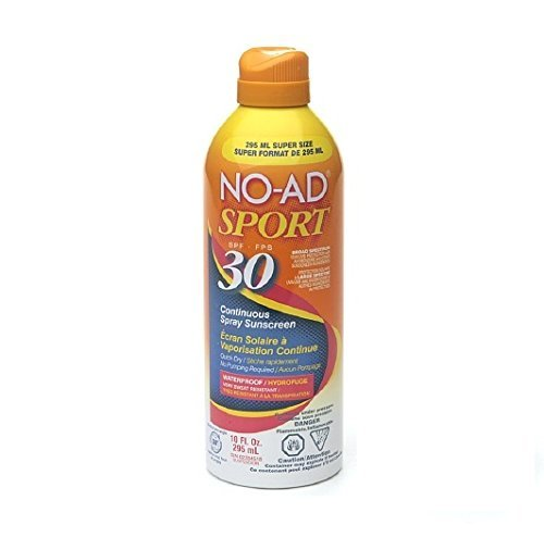 No-Ad Spf#30 Continuous Spray Sunscreen Sport 10oz Supersize (2 Pack) by No-Ad Suntan