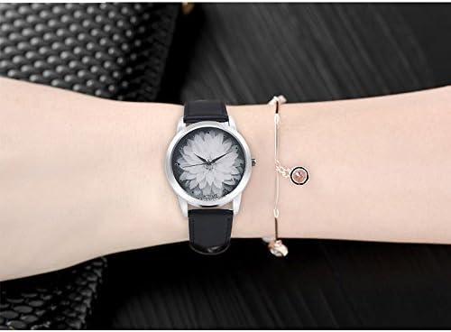 a319e7dede96 HULKY 2019 - Reloj de pulsera analógico de cuarzo con diseño de flor ...
