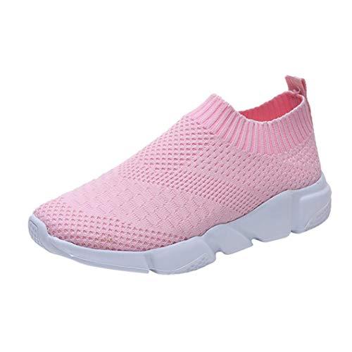 En Up Sport Soles Air Dames Mode De Plein Mesh Chaussures Casual Extrieur Intrieur Confortable Sport Rose Lace Femmes Running 7BXOxwn