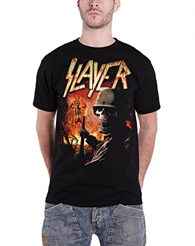 Ptshirt.com-19186-Slayer Mens T Shirt Black Burning Torch Laughing Soldier Band Official-B00MR2RAMA-T Shirt Design