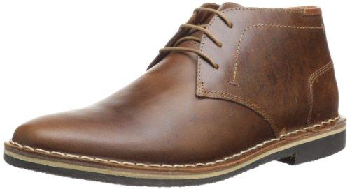 Steve Madden Men's Harken Cognac Leather Bootie Casual 10 ()