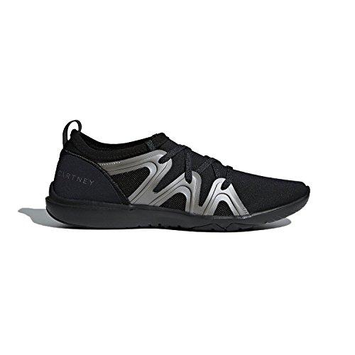 adidas by Stella McCartney Women's CrazyMove Pro Sneakers, Black/Metallic/Silver Metallic, 8 M UK (Stella Mccartney Sonnenbrille)
