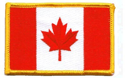 - Canada iron-on embroidered patch