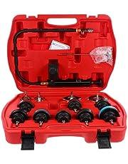 FAVOMOTO Verificador de Pressão Do Radiador Refrigerante Kit De Recarga De Vácuo De Refrigeração Automotiva de Teste de Vazamento de Tanque De Água Pneumática Purga Fill Tool Set