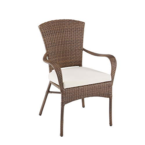 Panama Jack Key Biscayne Stackable Woven Armchair with Cushion ()