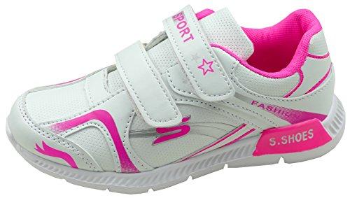 Gibra Zapatillas de Material Sintético Para Niña blanco/rosa