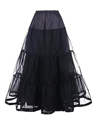 Grace Boutik Women Wedding Gown Underskirt Long Petticoat Slips